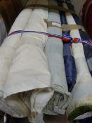 7 Rolls of Assorted Fabric ~1.6m width