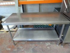 *Stainless Steel Preparation Table with Shelf ~150x69x85cm