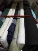 8 Rolls of Assorted Fabric ~1.6m width