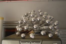 Silver Bauble Light Fitting