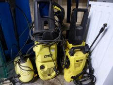 *collection of various yellow pressure washers 2 karcher 2 others