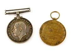 A WWI Medal pair, comprising War Medal 1914-18 inscribed to 564312 SPR E.Moreton R.E. and Victory