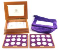 A Royal Mint Queen Elizabeth II Golden Jubilee Collection, twenty four coins in two trays, boxed