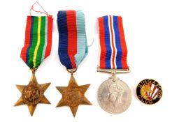 A WWII Medal group, comprising War Medal 1939-45, The 1939-45 Star and The Pacific Star, together