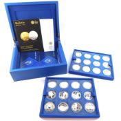 A Royal Mint The Queen's Diamond Jubilee Coin Collection, containing twenty four silver proof
