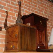 A Victorian mahogany pot cupboard, 78cm high, 47cm wide, 38cm deep., together with a mid 20thC