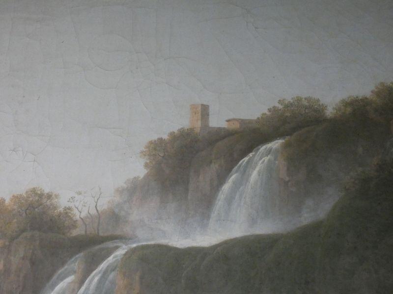 Jacob More (British 1740-1793). The Falls of Tivoli, with figures of a fisherman, his companion - Image 6 of 6