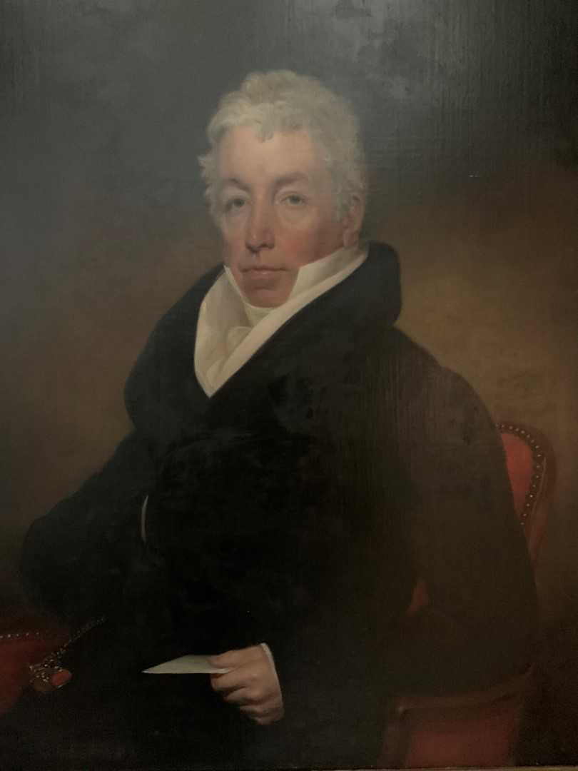 Thomas Kirkby (1796-c.1847). A portrait of William Little of Newbold Pacey, c1826, in a half