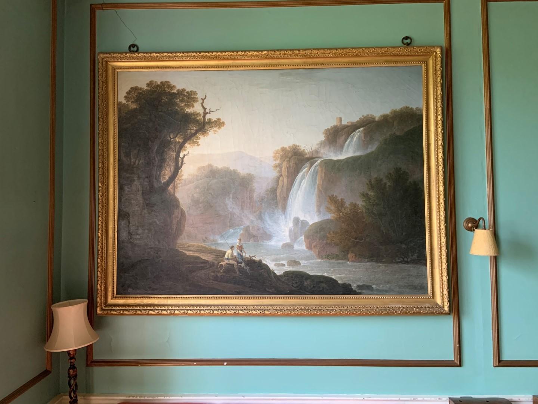 Jacob More (British 1740-1793). The Falls of Tivoli, with figures of a fisherman, his companion - Image 2 of 6