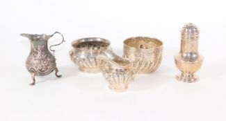 A late Victorian silver sugar bowl, of fluted design, London 1900, another Victorian silver sugar