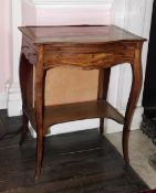 A George III mahogany fire screen writing table in the manner of John Cobb, the serpentine fronted