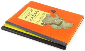 Braunhoff (Jean de) LE ROI BABAR, 1933 : HISTOIRE DE BABAR…, 1931, publisher's boards, large