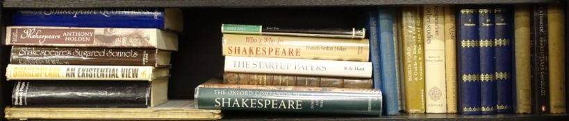 Shakespeare.- a shelf of mixed volumes, including facsimiles and criticism, v.s, v.d. (small qty)