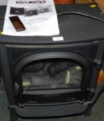 A Cazko electric stone range, with remote and instructions, model no E8575.
