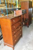A Stag Minstrel bedroom suite, comprising a pair of bedsides with single drawer, dressing table,