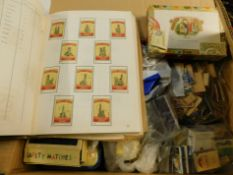 A large quantity of matchboxes, examples from the USSR, Spain, etc., cigar box, etc. (a quantity)