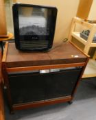A Phillips hostess trolley and a Dimplex electric heater.