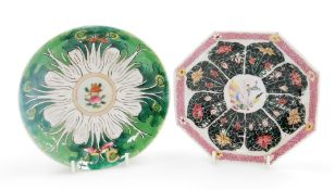 A group of Chinese ceramics, comprising an octagonal dish in famille rose palette; and a further