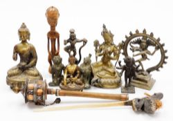 Various cast metal and other figure groups, Deities, Gods, Indian metal figure groups, various other