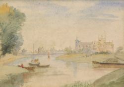 C.W. Fothergill (attributed). Peterborough, watercolour, unsigned and titled, 16cm x 24cm.