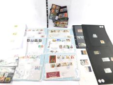 Philately. Papua New Guinea mint and used commemorative stamps, together with GB first day