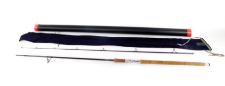 A Hardy Favourite graphite spinning rod, two piece, 10' (305cm), 10g - 50g, with bag and tube.