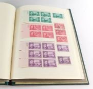 Philately. United States, mint and used definitives and commemoratives, many mint blocks, in one