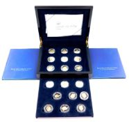 A Royal Mint silver proof coin collection 80th Birthday of Her Majesty Queen Elizabeth II 2006,