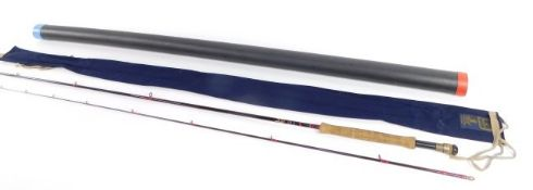 A Hardy Stillwater graphite fly rod, two piece, 10' (305cm), # 7/8, with bag.