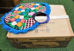 A Marantz Model 6150 Direct Drive Servo Control turntable and a knitted ladies handbag. (2)