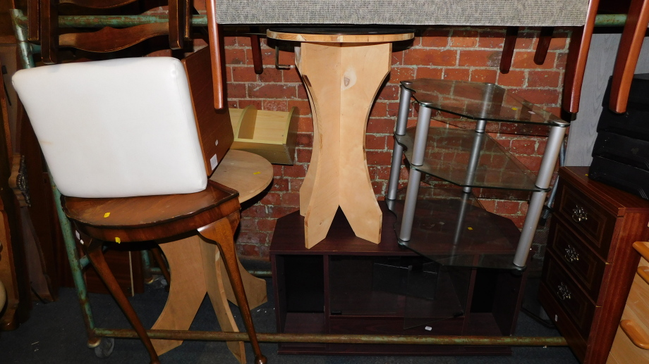 Sundry furniture, including stands, tables, bedside chest, etc. (a quantity)