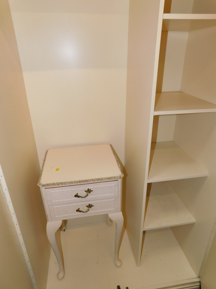 A cream painted French style bedroom suite, comprising wardrobe, 178cm high, 92cm wide, 54cm - Image 3 of 3