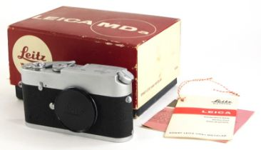 A Leica MDa camera body, serial number 1274811 (1971), boxed.