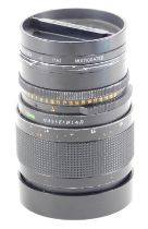 A Carl Zeiss Sonnar 150mm f4 lens, number 6559071, for a Hasselblad camera, with Hasselblad branding
