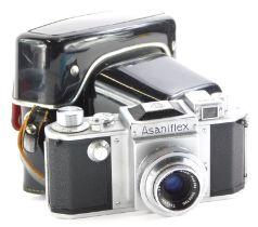 A Vintage Asahiflex camera, with f3.5 Takumar lens.