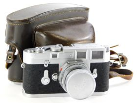 A Leica M3 single wind camera, serial number 1111501, with a Leitz 50mm f2 Summicron lens, number 20