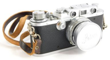 A Leica III camera, serial number 314696, with a Leitz 5cm f2 Summitar lens, number 506181.