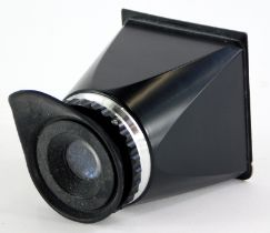 A Hasselblad magnifying hood chimney viewfinder.