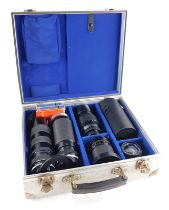Various camera lenses to fit a Rolleiflex SL2000F and a Rolleiflex 3003 camera, to include a Rollein