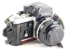A Nikon F2AS camera, with Nikkor f2.55mm lens.
