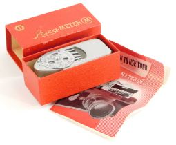 A Leica-meter M, boxed.
