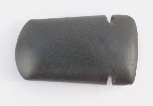 A polished axe head, the shaped body with two inverted sections, possibly Neolithic, reputed to have