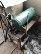 A portable compressor, with blower attachment. Viewing: On site near to Holbeach, South Lincolnshire
