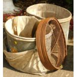 WITHDRAWN PRE SALE BY VENDOR Galvanised fruit picking bags, paraffin lamp, etc.