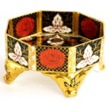 An Abbey Vale Chrysanthemum pattern porcelain octagonal dish, decorated in Imari colours, with