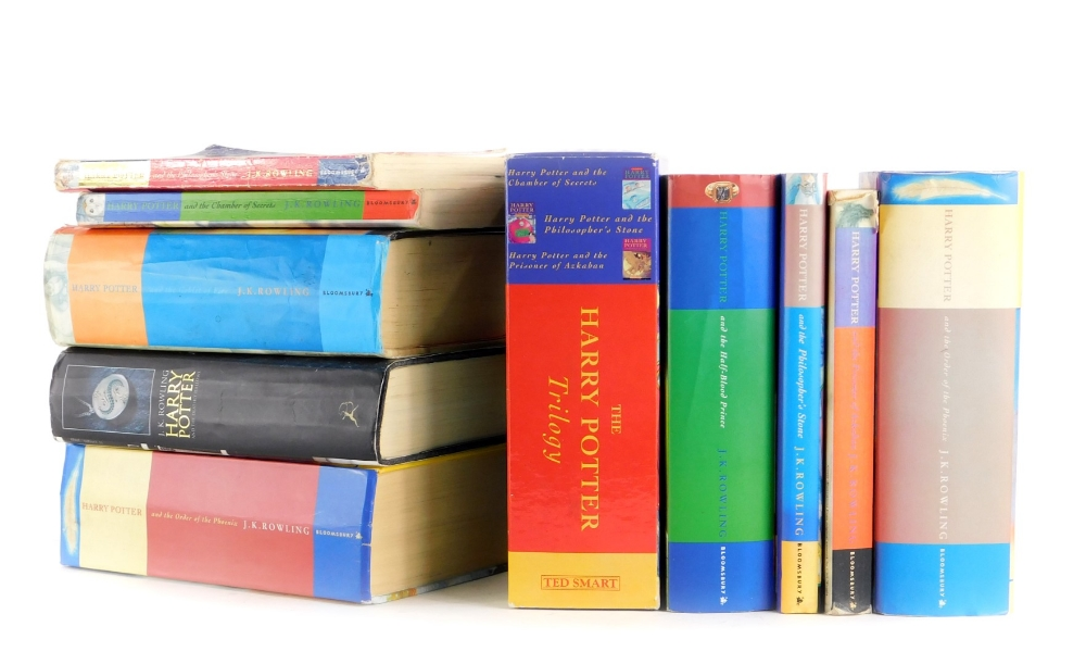 A collection of Harry Potter books by Rowling (J.K), to include some first editions.