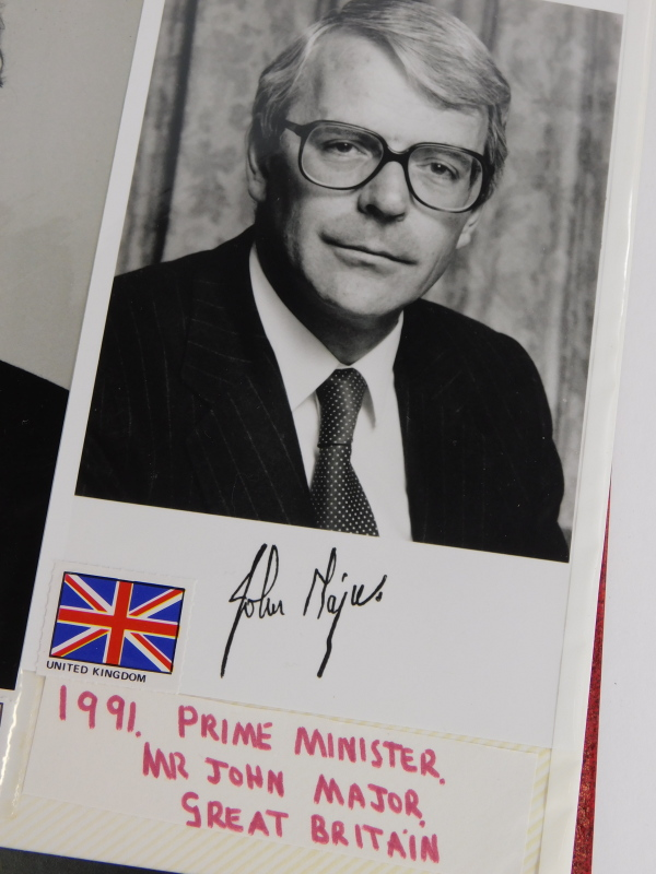 An album containing political photographs, to include some bearing the signatures of Margaret - Image 5 of 7
