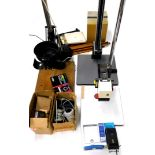 A quantity of photographic equipment, to include an enlarger, etc.