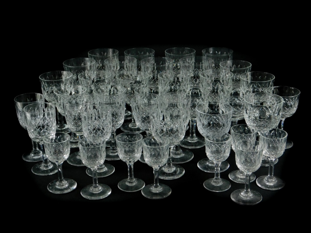 A suite of Thomas Webb cut glasses, various sizes, to include wine glasses, sherry, etc.
