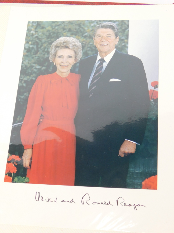 An album containing political photographs, to include some bearing the signatures of Margaret - Image 3 of 7